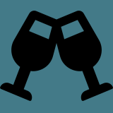 Icone de verre pour le bar
