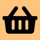 Icone panier de magasin pour présenter l'épicerie